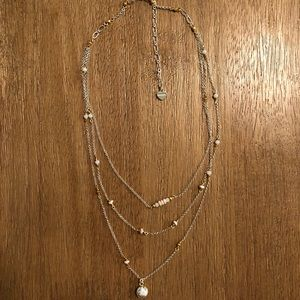 Nakamol Necklace: 3 tier necklace with small beads